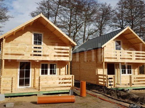 domki drewniane na działce
